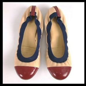 J.crew made in Italy patent roe ballet flats 7.5
